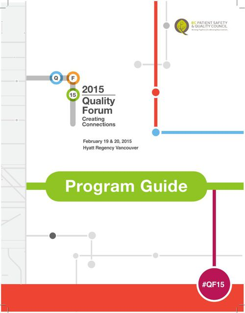 Quality Forum 2015 Program Guide