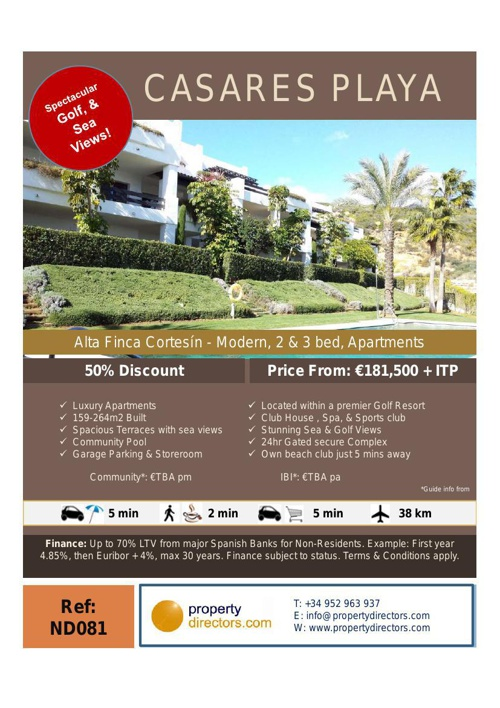 Discounted New Developments Marbella West to San Roque