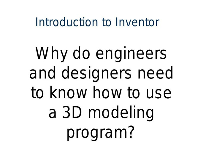 Intro to inventor