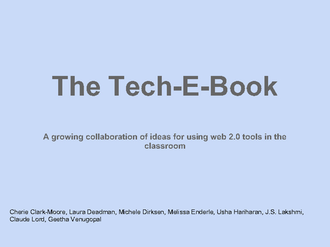 The Tech-E-Book