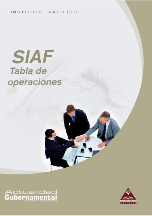 SIAF Tabla de operaciones
