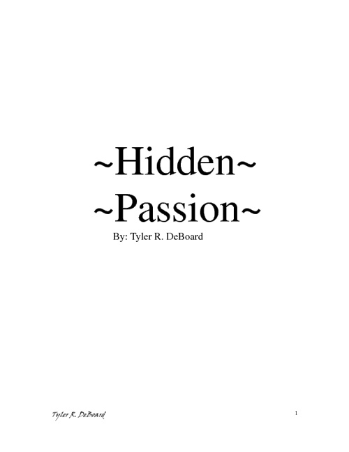 ~Hidden Passion~