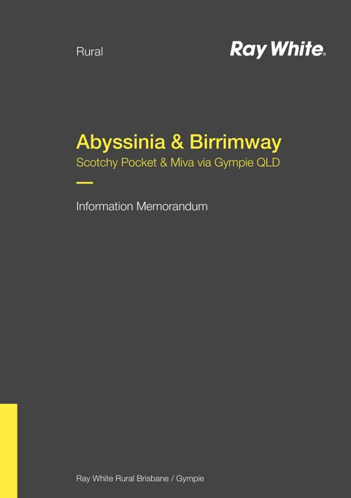 'Abyssinia' & 'Birrimway' - Information Memorandum