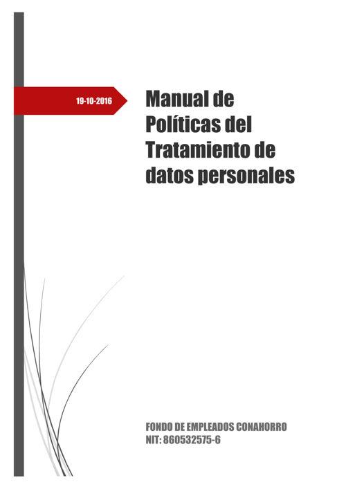manual tratamiento datos conahorro
