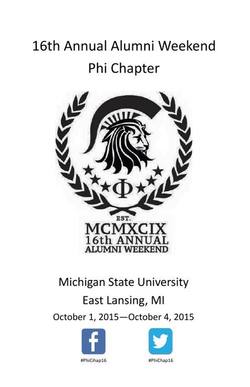 16th Annual Phi Chapter Alumni Weekend FINAL Rev1931