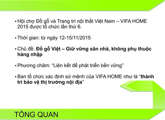 BAO CAO TONG KET VIFA HOME 2015