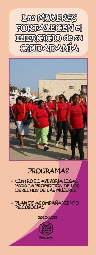 """Plegable """"Las Mujeres fortalecen su ejercicio de ciudadanía"""""""