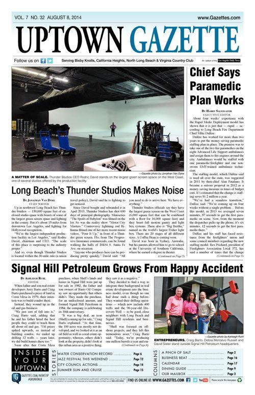 Uptown Gazette  |  August 8, 2014