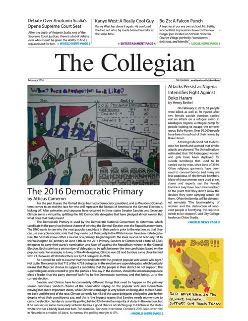 The Collegian Feb 2016
