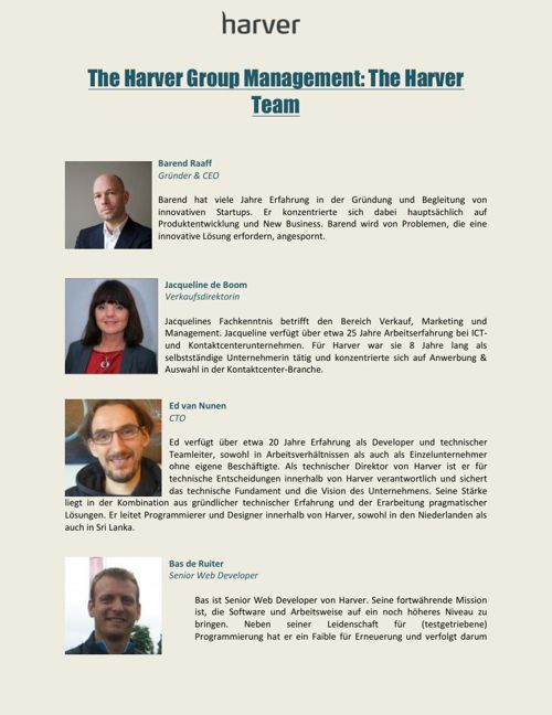 The Harver Group Management -  The Harver Team