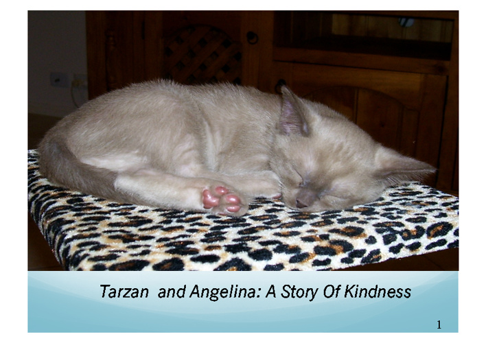 Tarzan and Angelina: A Story of Kindness