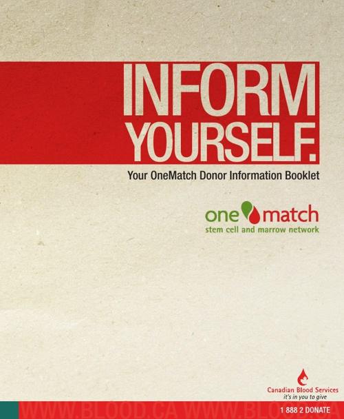 OneMatch Donor Booklet