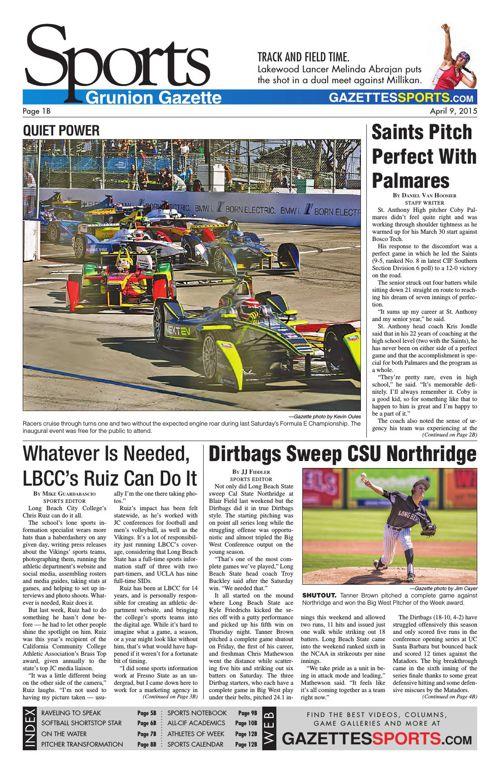 Gazette Sports | April 9, 2015