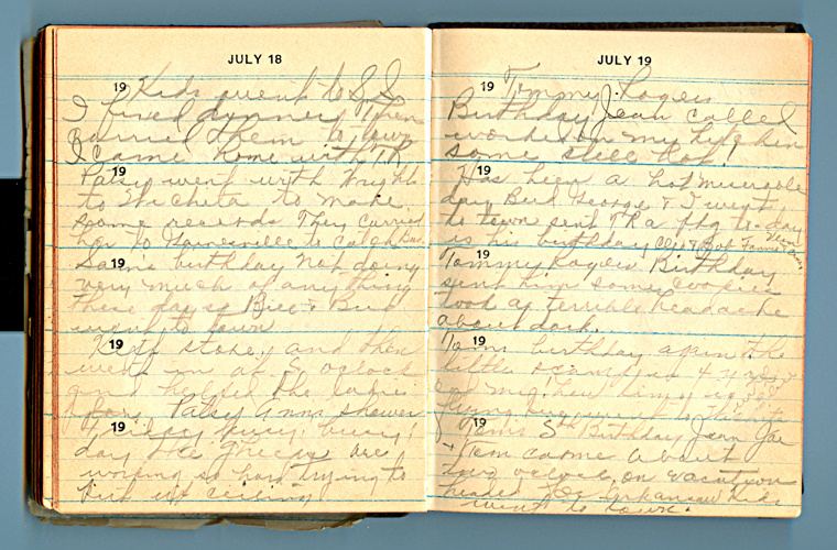 July 19 (Grandmother's Diary)