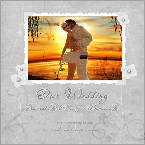 An3tasdX & Scarfac3BoricuaX Wedding Invitation