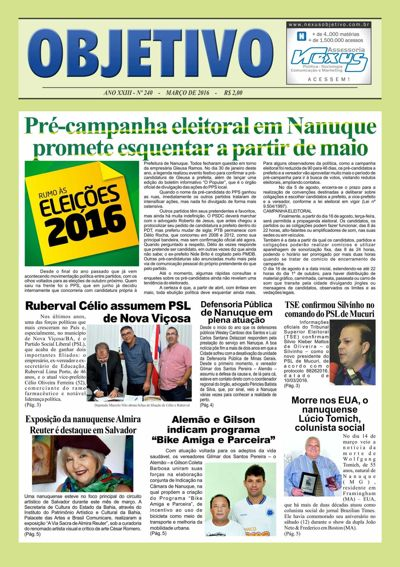 Jornal Objetivo março2016