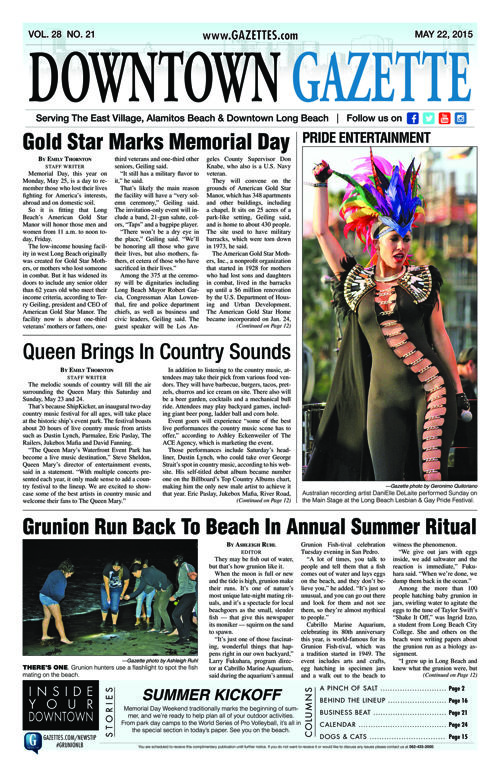 Downtown Gazette  |  May 22, 2015