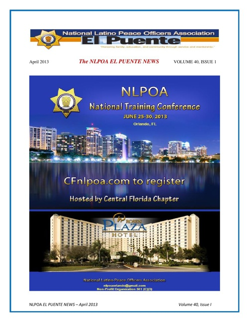 NLPOA Newsletter April 2013