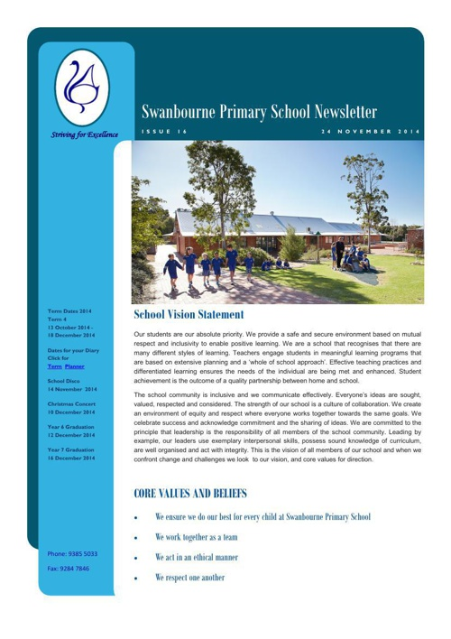 Newsletter Term 4              24.10.14