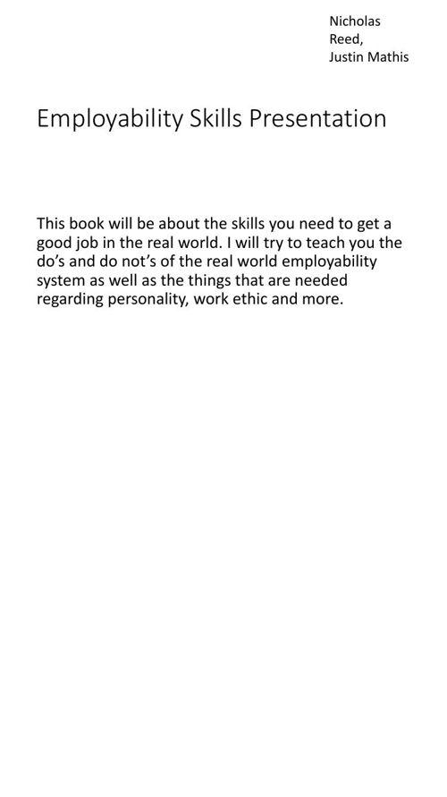 Employability Skills Presentation