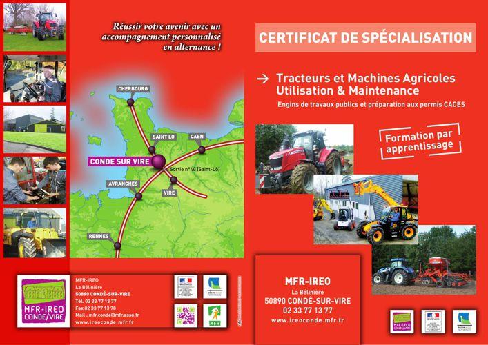 Formation CS Tracteurs et Machines Agricoles Utilisation et Main