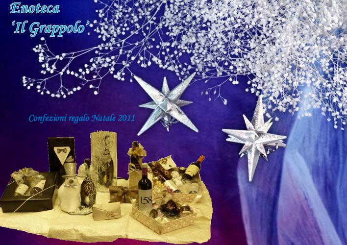 Enoteca IL GRAPPOLO confezioni regalo Natale 2012