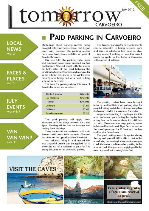 Tomorrow Carvoeiro, July 2012