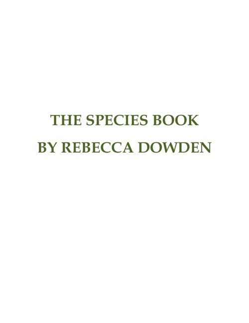 The Species Book