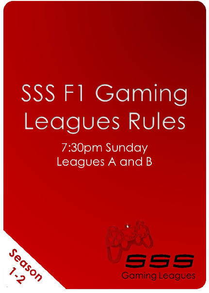 F1 Sunday League Rules