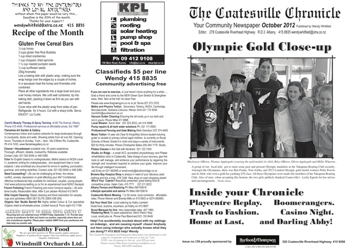Coatesville Chronicle October 2012