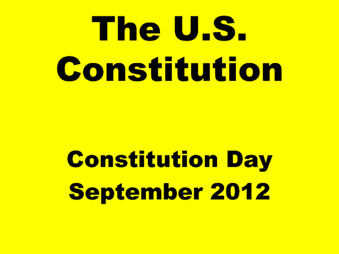 The U.S. Constitution 2012 Haiku