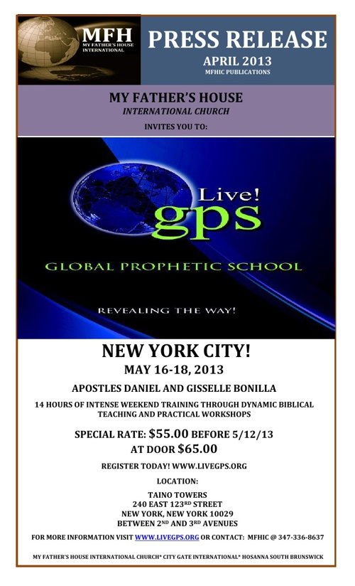 Live! GPS NYC Press Release 2013