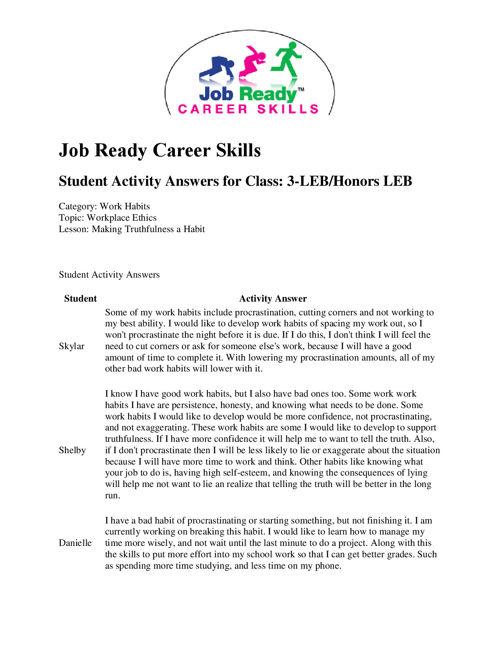 ENT Employability Skills - Matthews