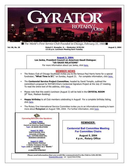 Gyrators - July to December 2004