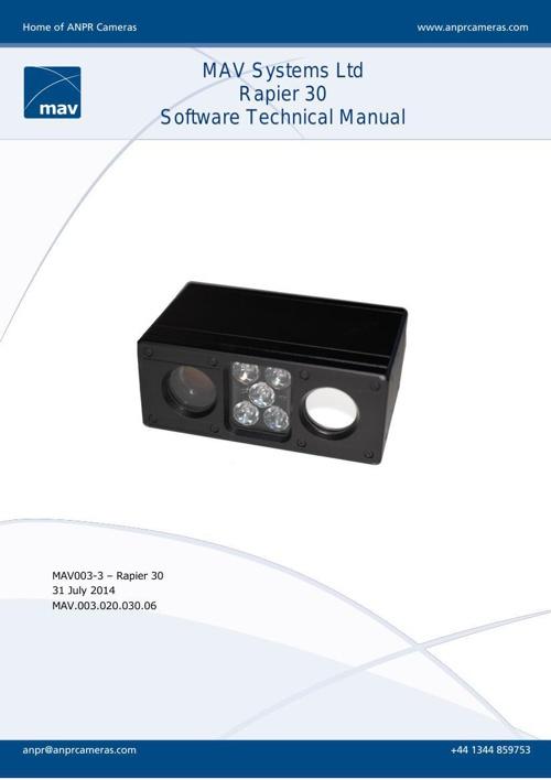 Rapier 30 Software Technical Manual V2.4
