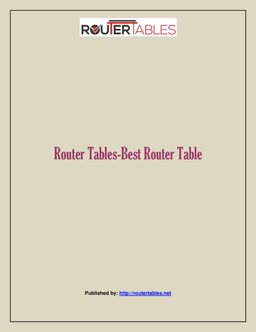 Router Tables-Best Router Table