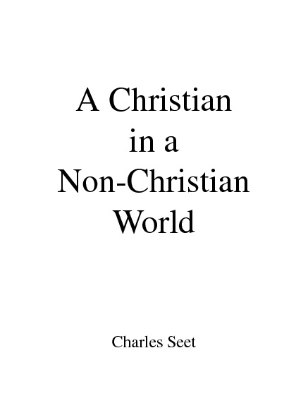 A Christian in a Non-Christian World