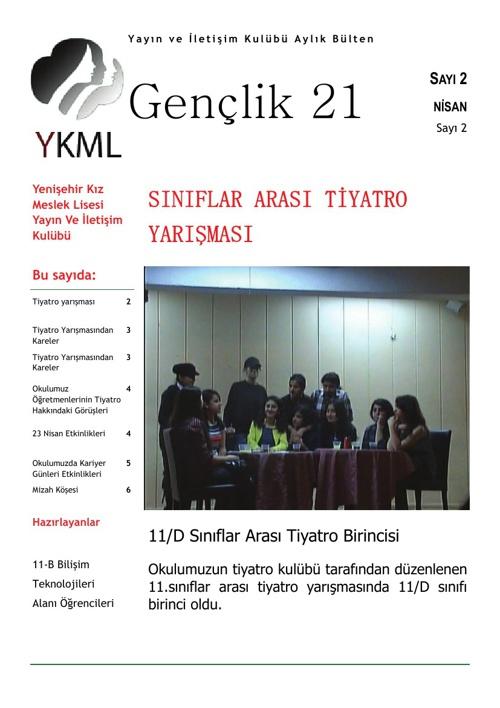 Yenişehir Kız Meslek Lisesi Yayın ve İletişim Kulübü Aylık Dergi