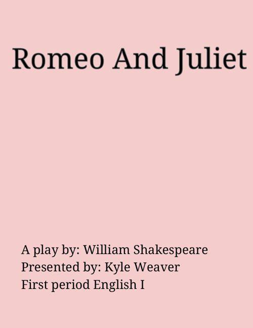 Romeo And Juliet Scrapbook final