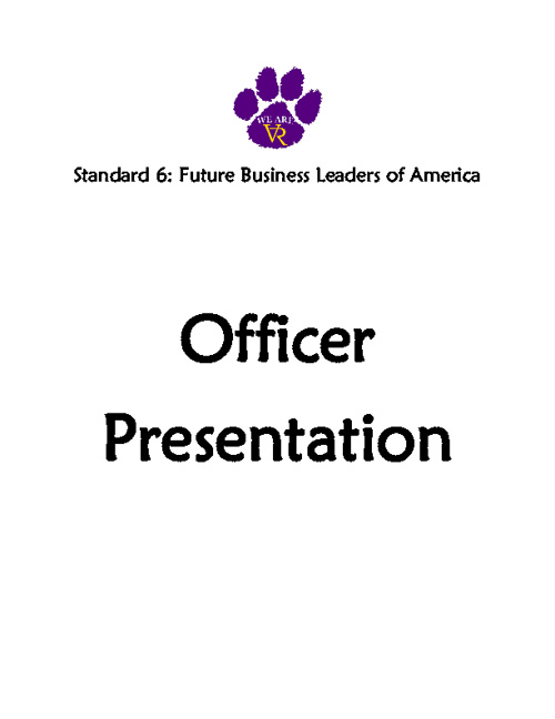 Standard 6: #50 Officer Presentation