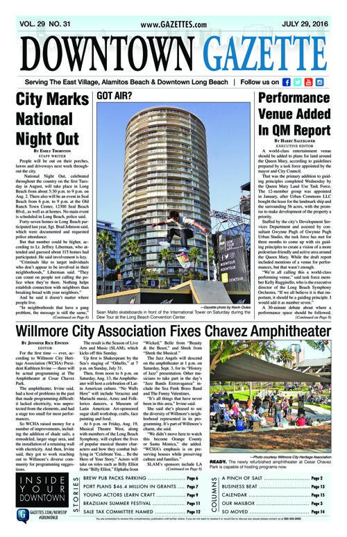 Downtown Gazette     July 29, 2016