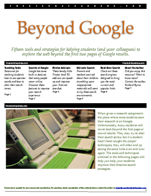 Beyond Google : Fifteen tools and strategies for helping student