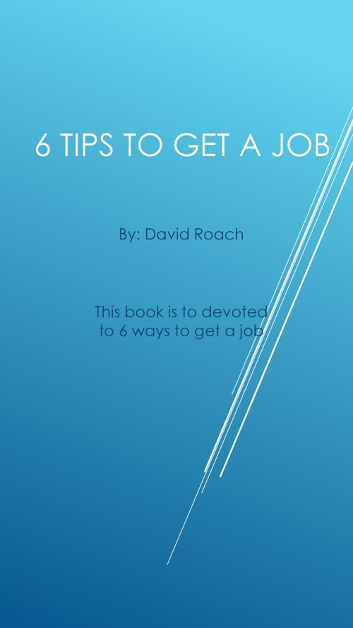 6 Tips to Get a Job fin