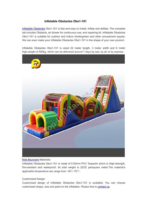 Inflatable Obstacles Obs1-101