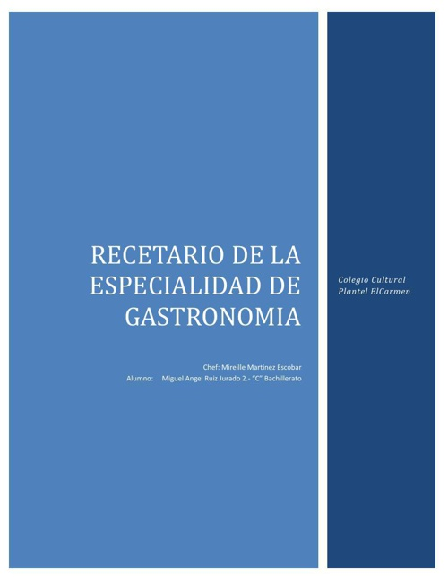 Recetario Gastronomia