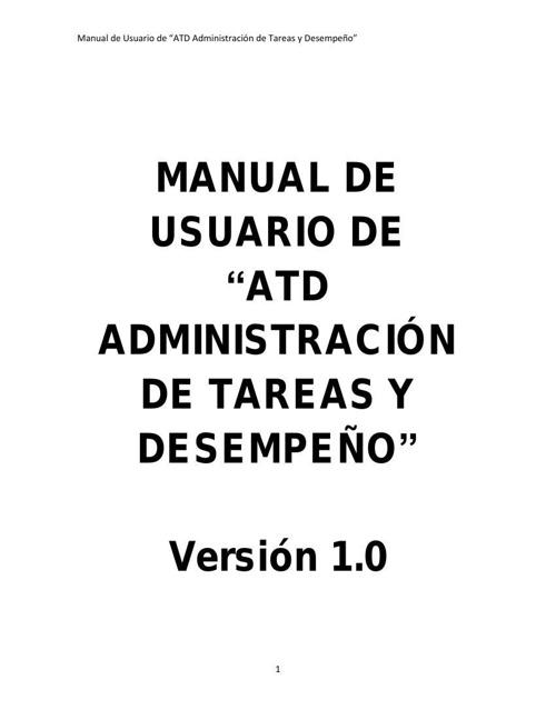 Manual de Usuario ATD
