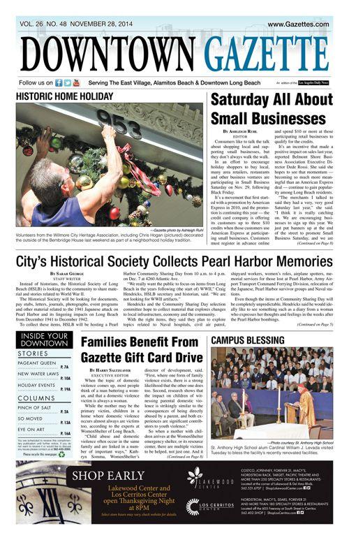 Downtown Gazette     November 28, 2014