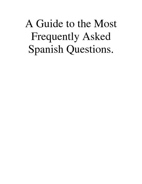 Spanish Q&A's