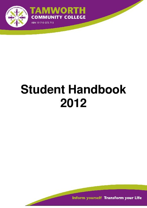2012 TCC Student Handbook