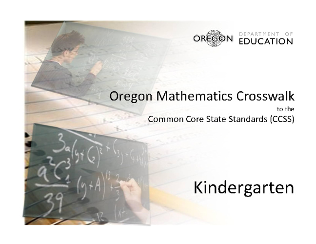 Smarter Balance & The Math CCSS
